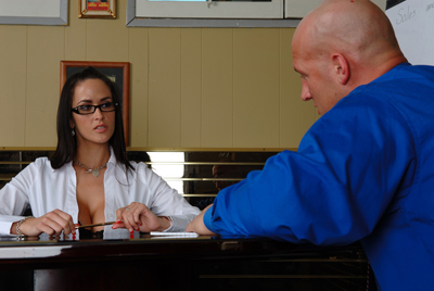 Naughty office babe interviewing