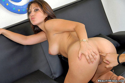 Naked girl taking a full blow cum blast