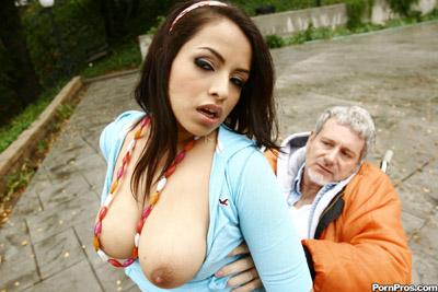 Hot nude girls fucking old guys